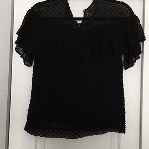 Women's jcrew ruffled blouse size 2p